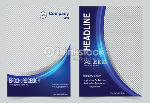 Brochure Template Flyer Design Blue Color Abstract Vector Background