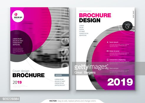 Brochure template layout, cover design annual report, magazine, flyer or booklet in A4 with color circle shapes in swiss or magna style. Vector Illustration. : stock vector