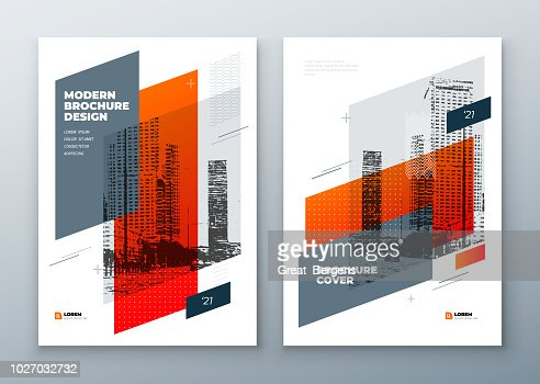 Brochure template layout design. Corporate business annual report, catalog, magazine, brochure, flyer mockup. Creative modern bright concept in memphis style : stock vector