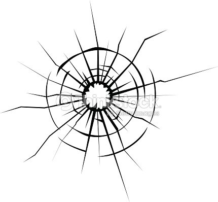Graphic Design Shattered Glass Window