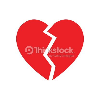 Broken Heart Symbol Isolated Vector Vector Art Thinkstock