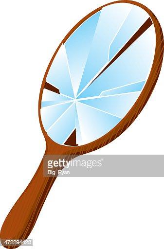 Arte e grafica vettoriale di specchietto getty images - Specchio rotto sfortuna ...