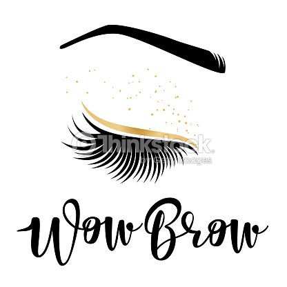 d4815c3f9d5 Brow Studio Vector Illustration Of Lashes And Brows stock vector ...