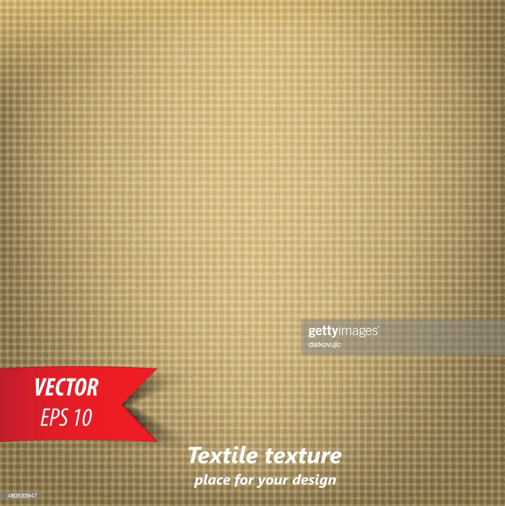 Brown Fabric Texture : Vector Art