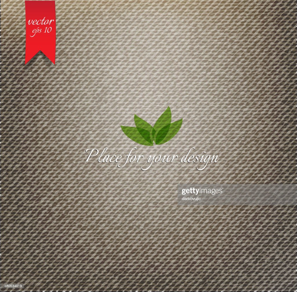 Texture de tissu brun : Clipart vectoriel