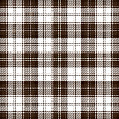 Brown and white seamless traditional tartan plaid pattern design.