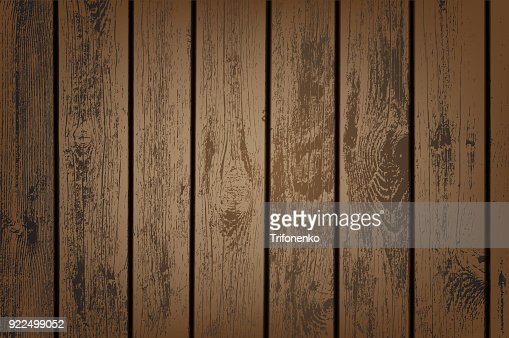 Brown wooden panels : stock vector