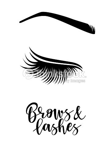 0866f40a0ba Brows And Lashes Logo stock vector - Thinkstock