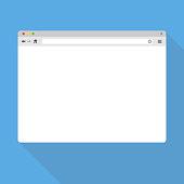 Modern browser window template. Desktop web window mockup