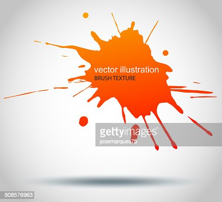 Brush Paint Stains, Vector Splatter : Vector Art