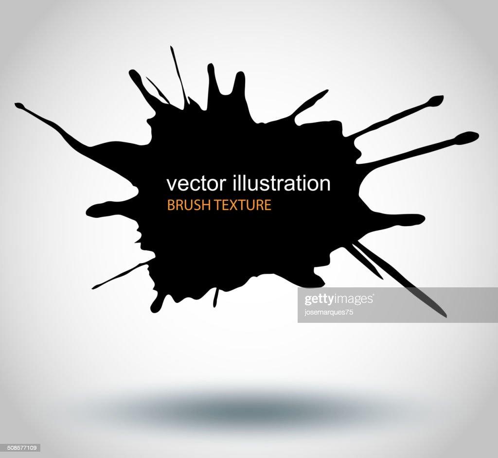 Brush Paint Stains, Vector Splatter : Vectorkunst