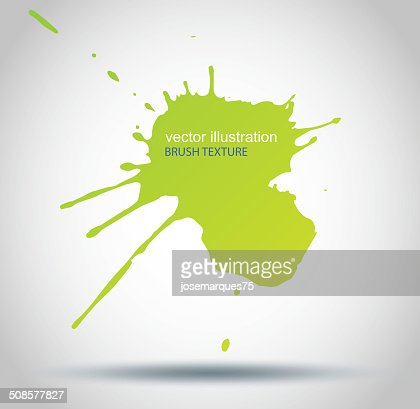 Brush Paint Stains, Vector Splatter : Vectorkunst