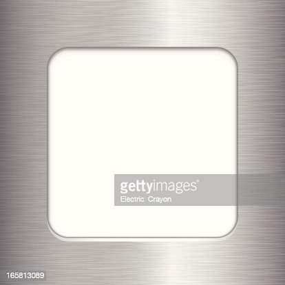 brushed metal frame vector art