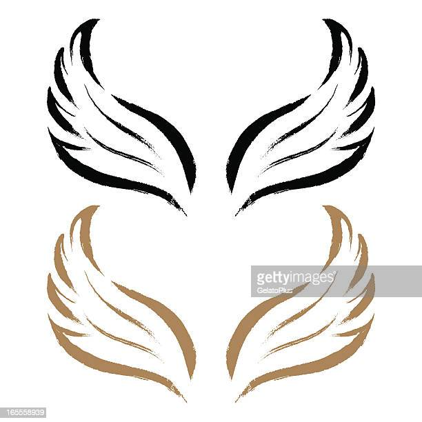 Pinselstrich-Flügel