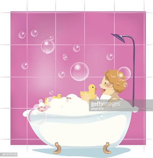 Bath Bubbles Cartoon Free Vector Graphic On Pixabay: Dirty Bathroom Stock Illustrations And Cartoons
