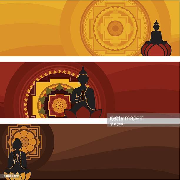 Bouddha bannières