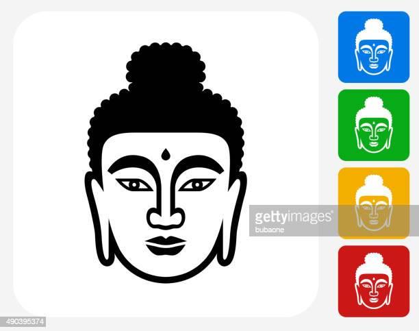 Visage de Bouddha icône à la conception graphique