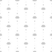 Lotus Flower and Om Symbol Seamless Pattern