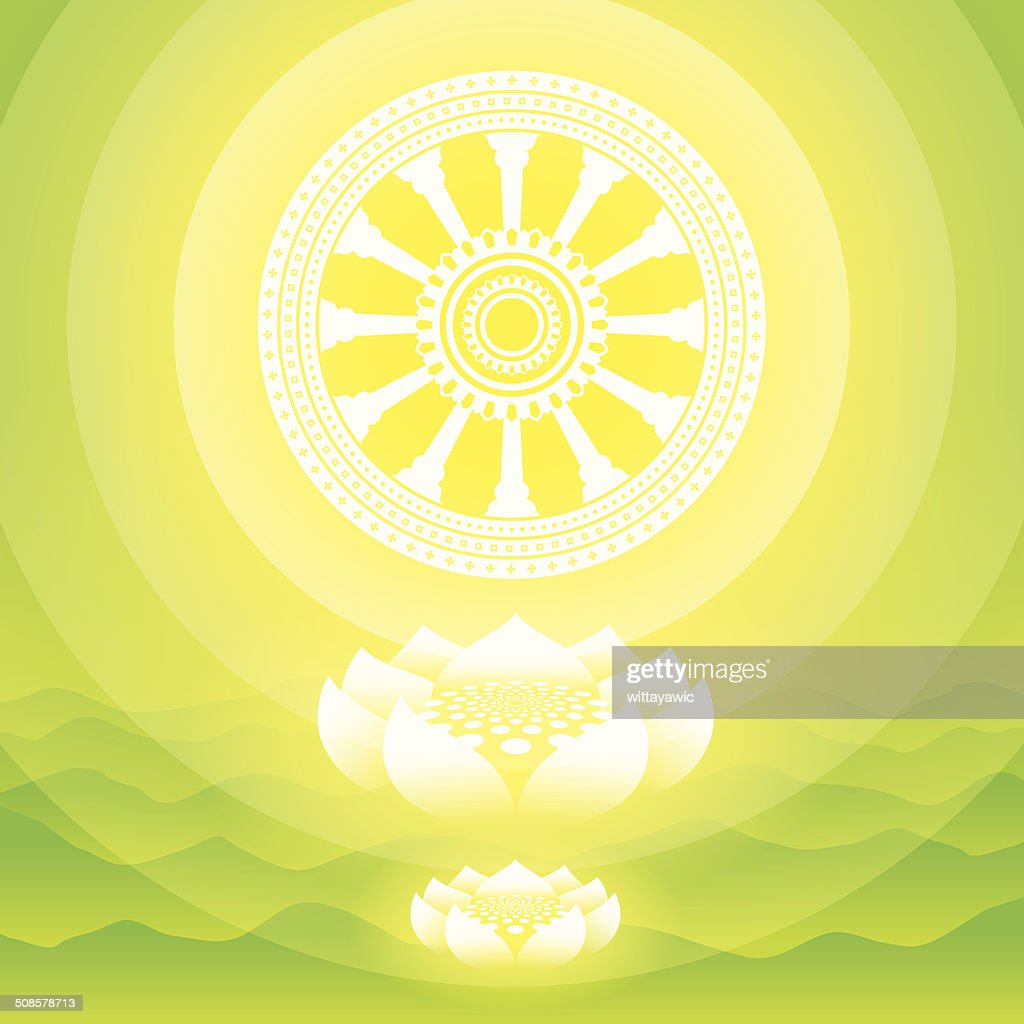buddha symbol, vector illustration : Vector Art