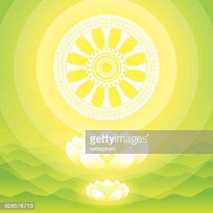 buddha symbol, vector illustration : Vector Art