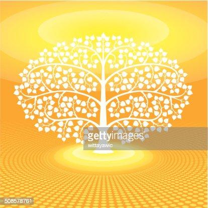 buddha tree symbol, vector illustration : Vector Art
