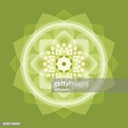 Bouddha, lotus, Roue de la vie, intuit : Clipart vectoriel