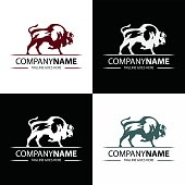 Buffalo brand design template. vector illustration