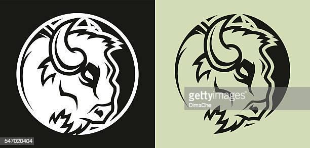 buffalo head mascot