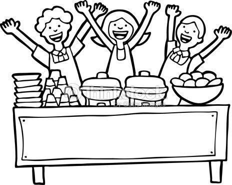 Ligne art de la table de buffet clipart vectoriel thinkstock - Art de la table en ligne ...