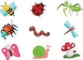 bug vector cartoon object