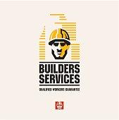 builder worker, builders services, building company logo