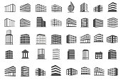 building and estate icons set vector illustration