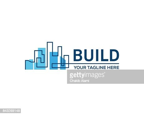 Gebäude errichtet. : Vektorgrafik