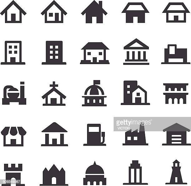 Gebäude-Ikonen-Smart-Serie
