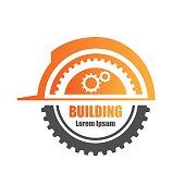 Building logo in vector