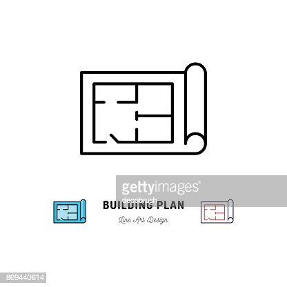 Bau Plan Symbol, Umriss Symbol der Bau und die Reparatur : Vektorgrafik