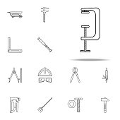 building press icon. Home repair tool icons universal set for web and mobile on white background