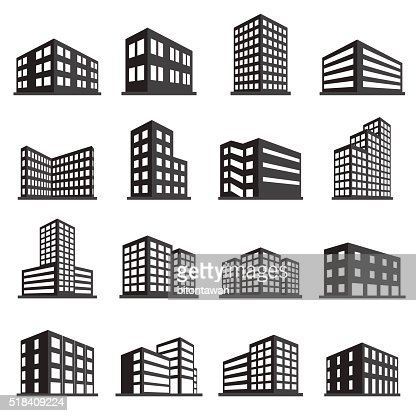 Buildings icon and office icon set : stock vector