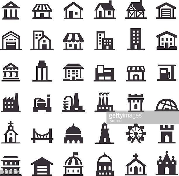 Iconos de edificios-Serie grande