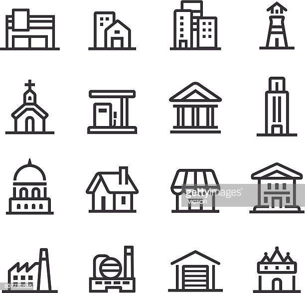 Gebäude-Ikonen-Line Serie