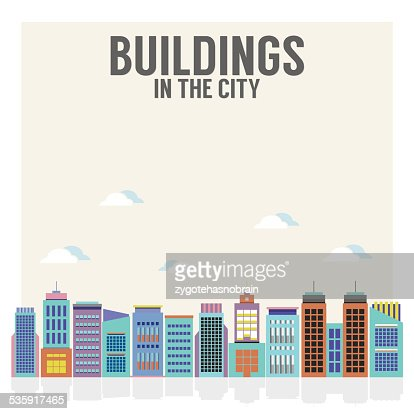 Buildings In The City : Vector Art
