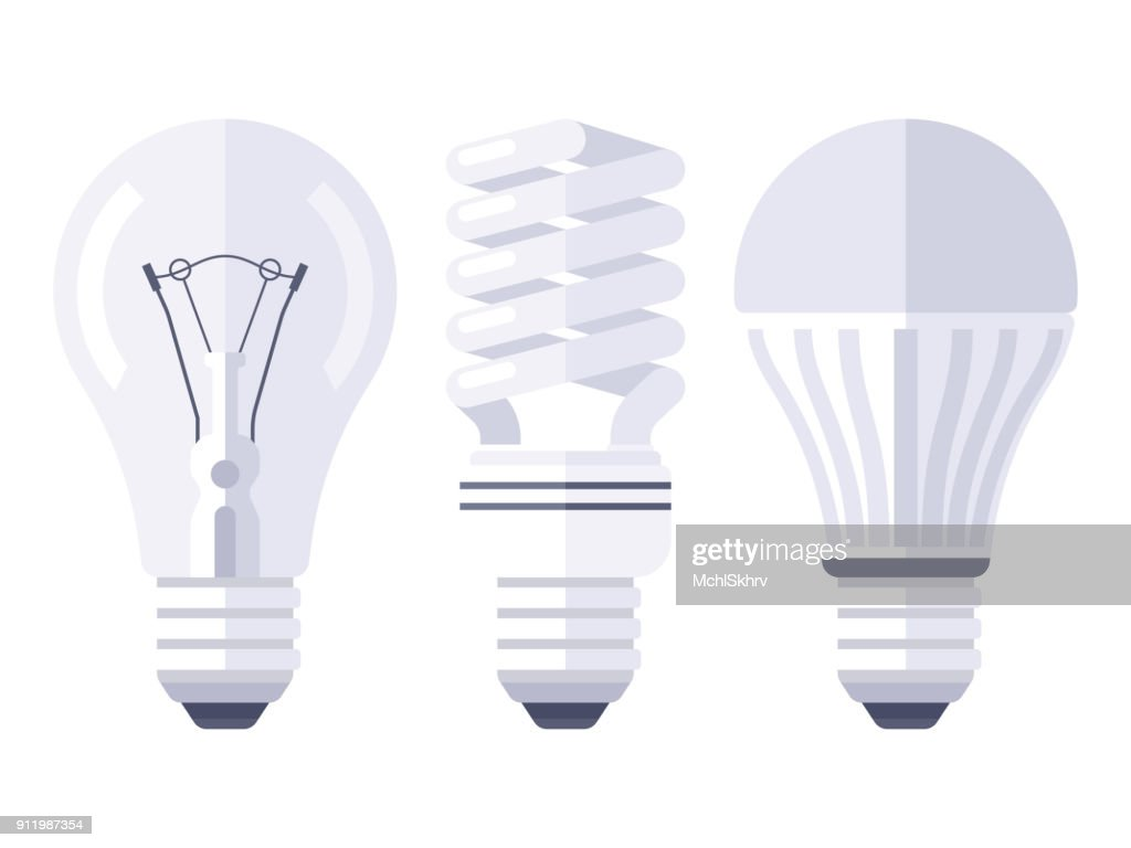 Bulb types flat design stock vector thinkstock