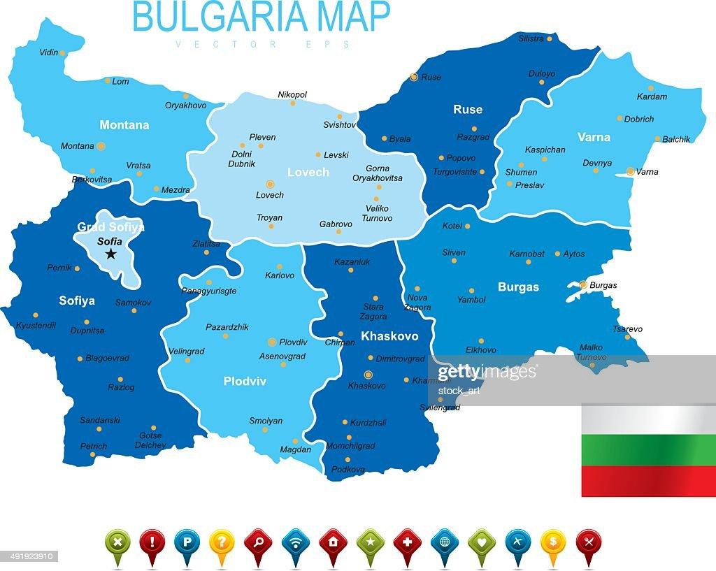 Bulgaria Map Vector Art Getty Images - Bulgaria map
