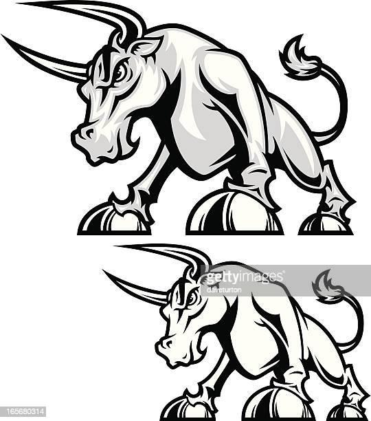 Bull FIghting Stance B&W