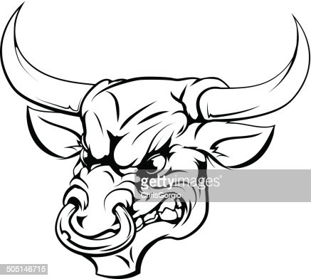how to draw a bull head easy