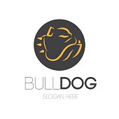 Bulldog Mascot Design. AI 10 Supported.