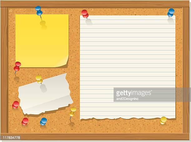 Bulletin board, horizontal version