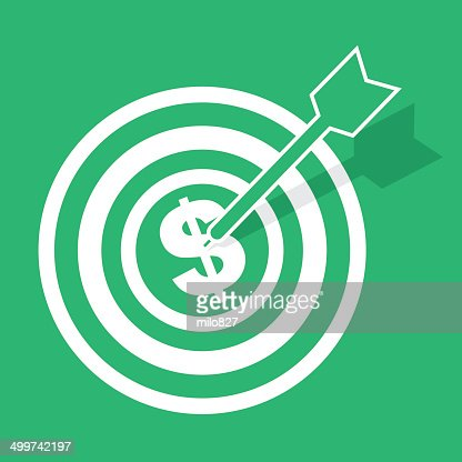 Bulls Eye Money : Vector Art