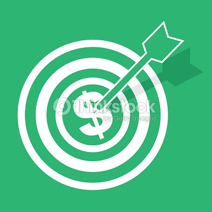 Bulls Eye Money : stock vector