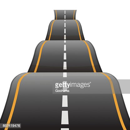 Bumpy road icon uneven dangerous wave path with marking vector : stock vector
